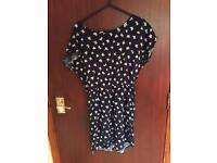 Bow print dress size medium