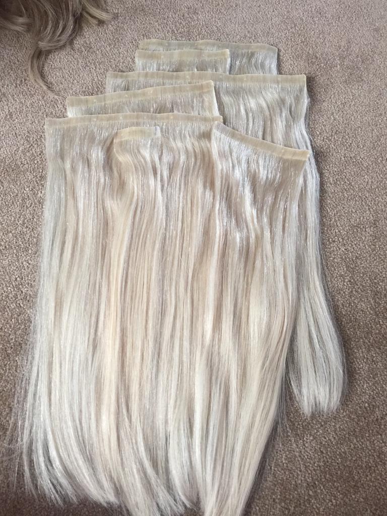 Foxy Locks Hair Extensions In Platinum Blonde In Yate Bristol