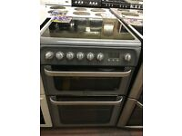 60CM SILVER HOTPOINT ELECTRIC COOKER
