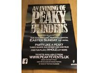 An evening of Peaky blinders April 1 st