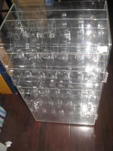 "Revolving Watch Display Show Case with watch holders. Can hold 60 watches. (8"" Depth x 12"" Length x 22"" High)"