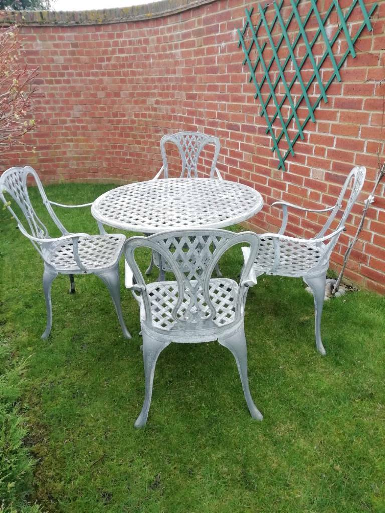 Aluminium garden table and 4 chairs   in Chestfield, Kent ...