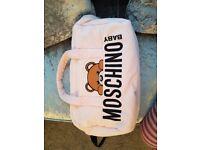 Genuine Moschino baby girl changing bag and mat