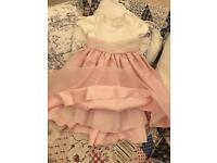 Child Ivory and Pink Bridesmaid/Occasion Dress