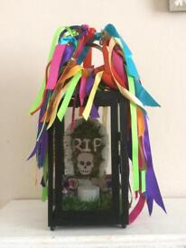 Day of the Dead inspired decorative Lantern