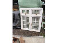 Double glazed white upvc windows