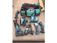makita lithian ion power tool kit