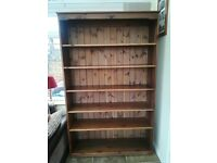 Bookcase - Solid Wood - Walnut/Dark Colour