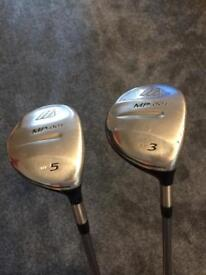 Mizuno MP001 3 & 5 Wood Golf Clubs