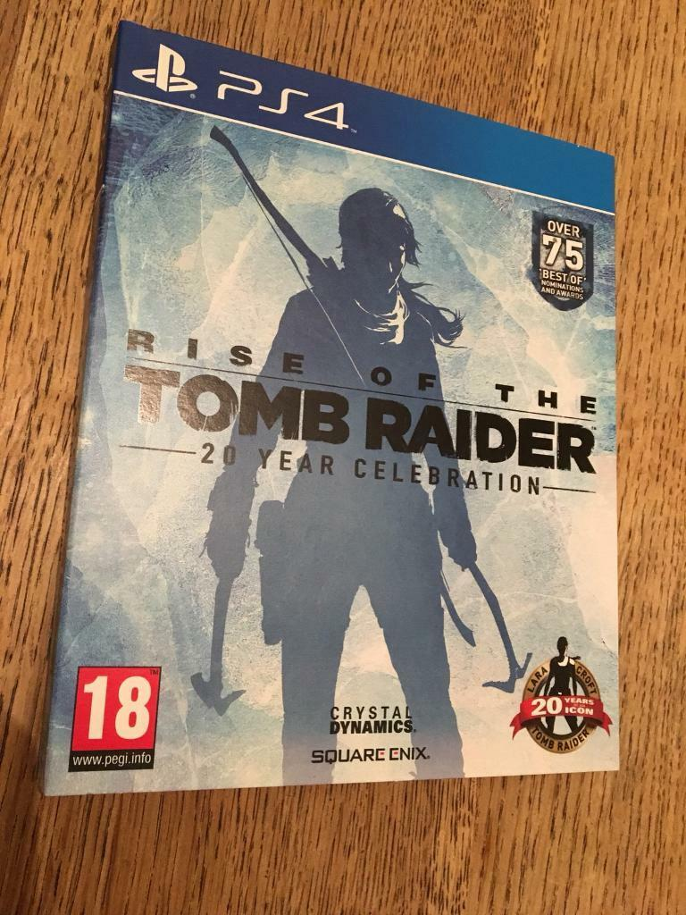 tomb raider 20th anniversary ps4 cards