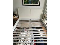 IKEA king size white bed - £25