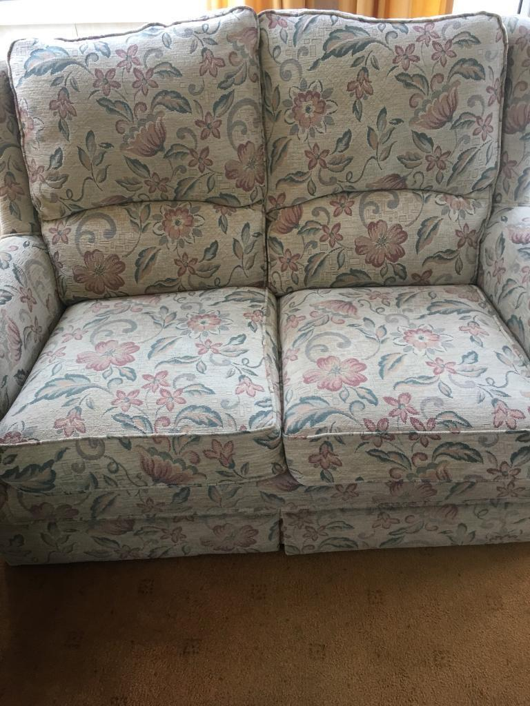 2 seater sofa and 2 arm chairs..