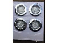 Recessed chrome down lights