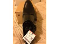 Men's shoes, brand new, still boxed, black leather size 8 , smart loafers, from zara