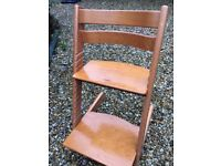 Stokke Tripp Trapp High Chair - beech, with clip on feeding table