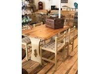 Farmhouse Table and Chair Set £225