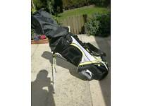 SLAZENGER P SERIES FULL GOLF SET UP WITH NEW IRONS AND BAG