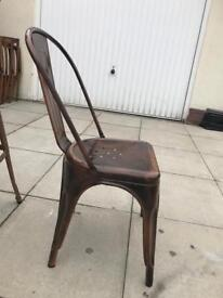 Metal chair and bar chair