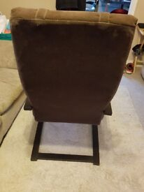 Ikea poang chair in dark brown