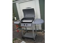 2 Burner Gas BBQ with side burner - 2 gas tanks included!