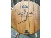 Oak Whisky Barrel Wall Clocks