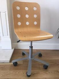 Ikea wooden swivel desk chair