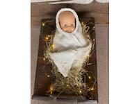 Traditional nativity manger