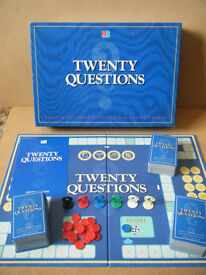 """""""TWENTY QUESTIONS"""" board game. Produced by MB Games 1988. Complete."""
