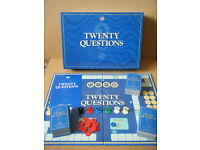 """TWENTY QUESTIONS"" board game. Produced by MB Games 1988. Complete."
