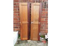 Wooden cabin doors
