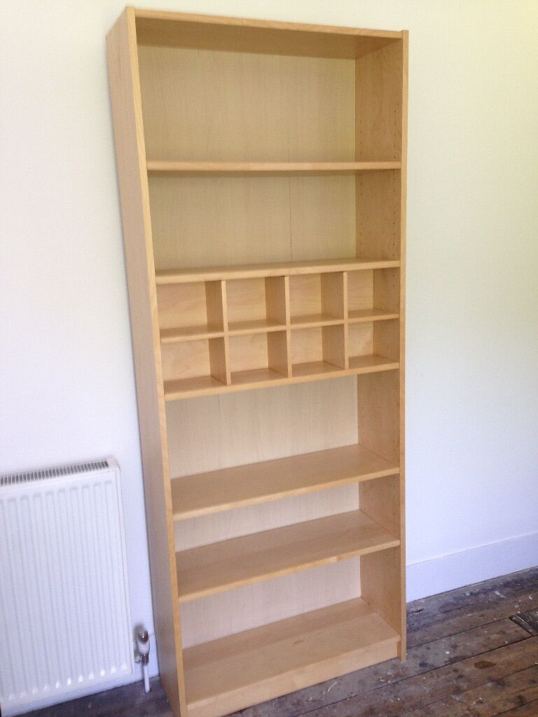 Ikea billy bookcase in birch veneer with removable cd - Ikea porta cd billy ...