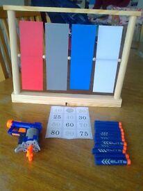 NERF GUN £9.50 & TARGETS - AS NEW UNUSED.