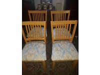 SET OF FOUR KITCHEN/DINING/CHAIRS SOLID BEECH WOOD