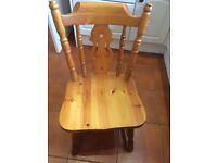 Four Fiddleback Chairs