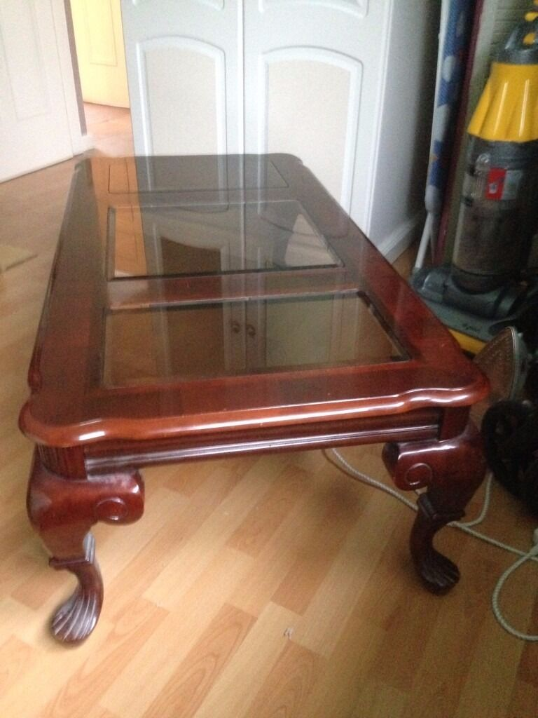 Large Rosewood Coffee Table with glass inlay in Bingley  : 86 from www.gumtree.com size 768 x 1024 jpeg 85kB