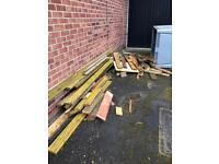 Used decking wood,