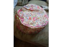 Beautiful Hello Kitty PVC pouffe Wipe cleanable In excellent condition
