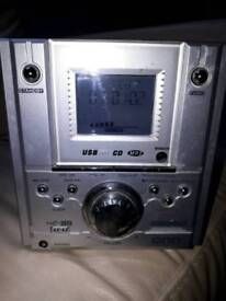 Onn stereo music system for sale.