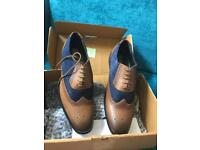 Men's red foot brogues NEW size 8