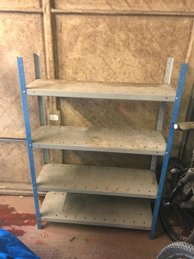 Free! Metal garage or workshop shelves