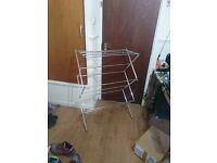 Metal Folding Clothes Hanging Dryer Rack (Fair Condition)