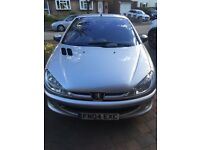 SILVER 2004 PEUGEOT 206CC CONVERTIBLE PERFECT CAR FOR THE SUMMER !!!