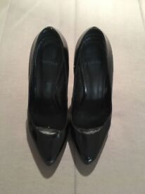 Size 40, black patent leather Carvela heels (worn but good condition)