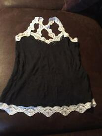 Black top river island size 8