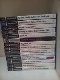 14 Pre-Owned Playstation 2 Games In Good Condition