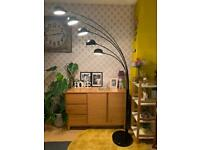 Trendy black floor lamp