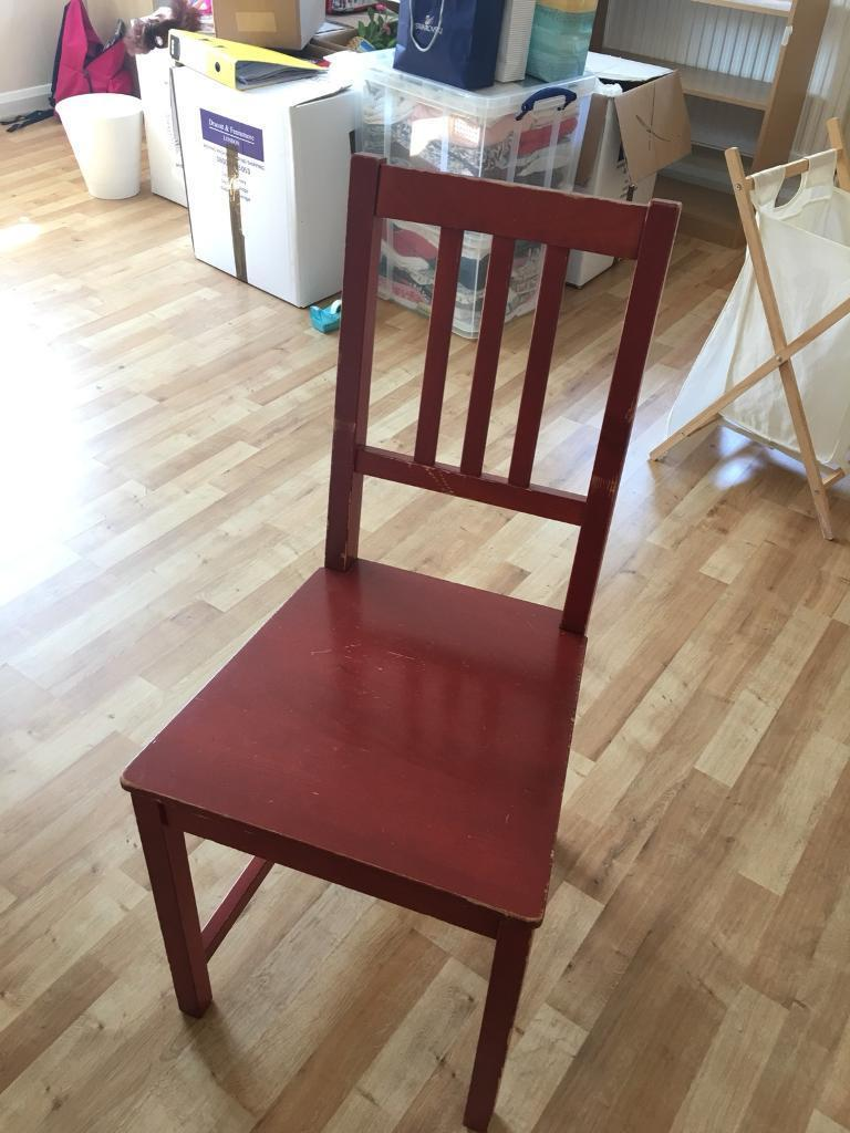 Enjoyable Red Wooden Chair In Guildford Surrey Gumtree Frankydiablos Diy Chair Ideas Frankydiabloscom