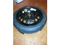 vauxhall vectra 2006 space saver wheel and brand new tyre 115/70/16
