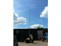 8.75m MAST IN GALVANISED STEEL 3 section