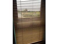 Oak slatted blinds